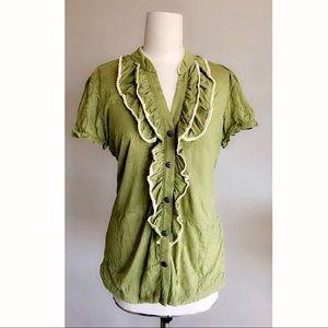 Cocomo Green Ruffle Shirt